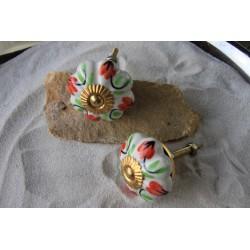 Bouton de porte en céramique