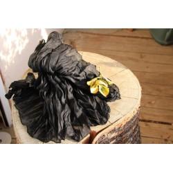 Echarpe indienne noire