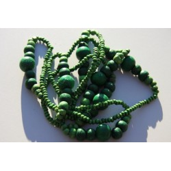 Collier perles bois