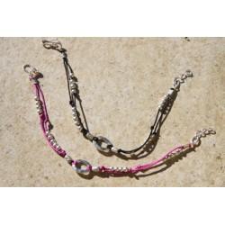 Bracelet sur fil satiné