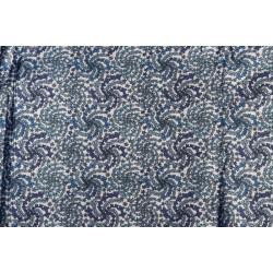 Tissu coton à dominante bleue