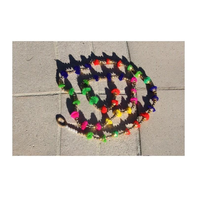 Guirlande pompons multicolores