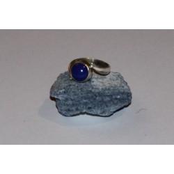Bague argent et lapis lazuli (T55)