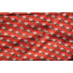 Tissus, Coupon rouge coton par 0.5 m