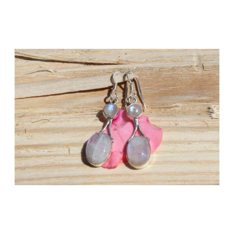 Boucles d'oreille argent et malachite