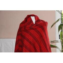 Plaid en laine et acrylique
