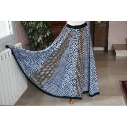 Jupe longue coton batik