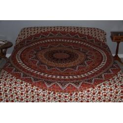 Tenture murale mandala ou jeté de lit.