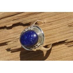 Bague argent et lapis lazuli (T54)