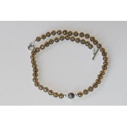 Collier noué perles quartz...