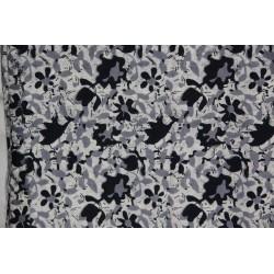 Tissu Coton noir et blanc.
