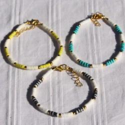 Bracelet surfeur perles Heishi