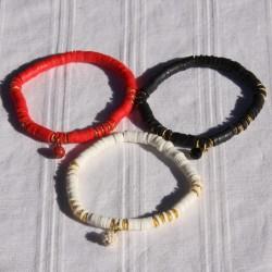 Bracelet perles Heishi 3 couleurs