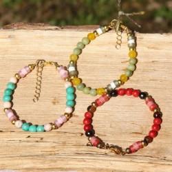 Bracelet réglable pierres