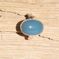Bague argent ( T 56) et quartz bleu