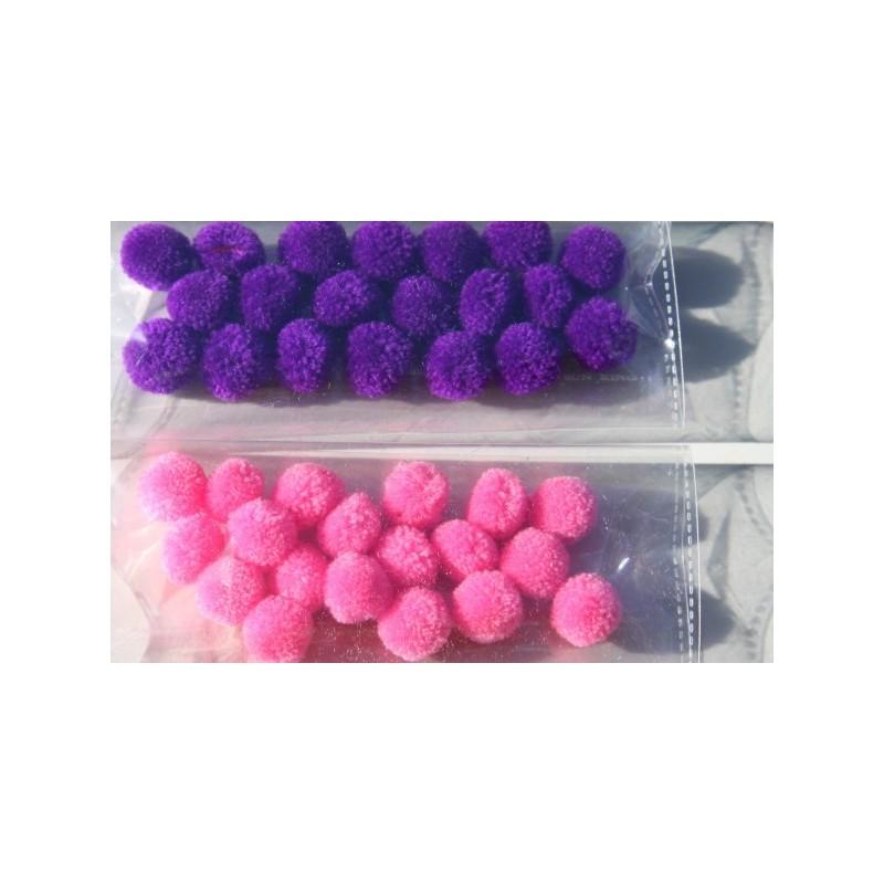 Petits pompons, 3 couleurs