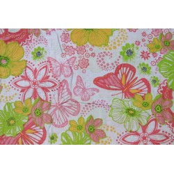 Tissu coton avec papillons