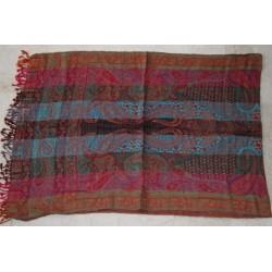 Echarpe en laine et soie