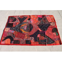 Patchwork indien rouge