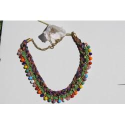 Collier ethnique multicolore