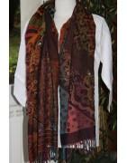 Accessoires, sarees -  Echarpe, plaid, paréo - Echarpe laine - Ethnique Création