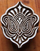 Tampon batik indien en bois - Ethnique Création