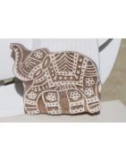 Tampons batik moyens -  décoration ethnique - Ethnique Création